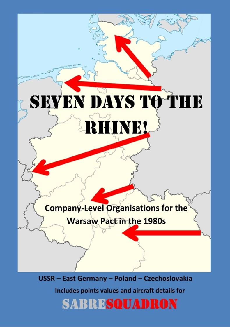 The cover of Seven Days To The Rhine, the Sabresquadron Warsaw Pact supplement.