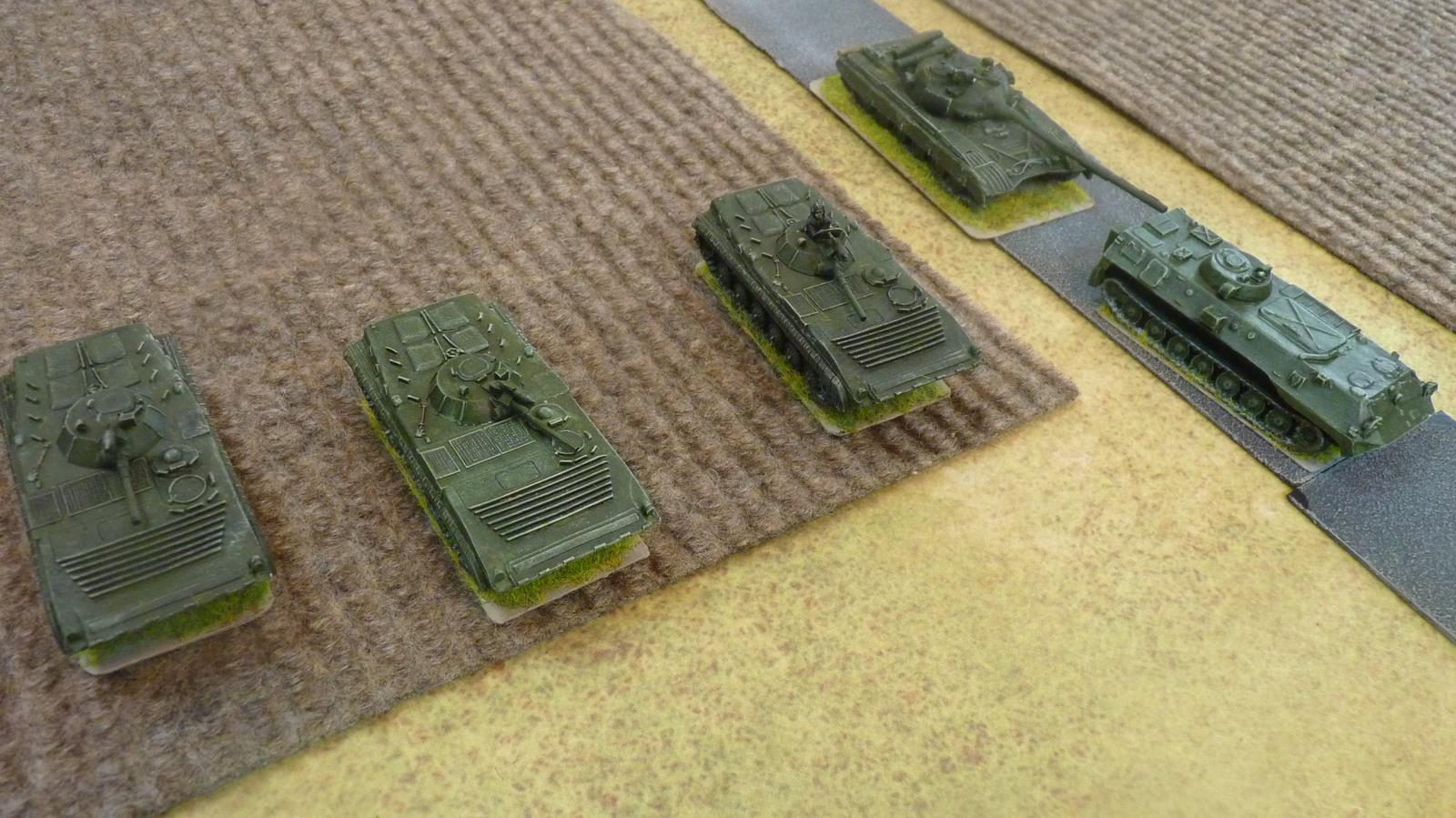 Soviet BMPs and an ACRV2 advance